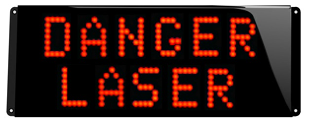 danger laser marquage lumineux